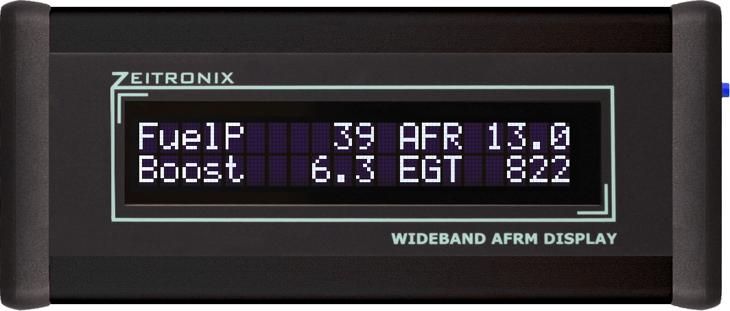Zeitronix LCD : Four value display for the Zt-2 Wideband