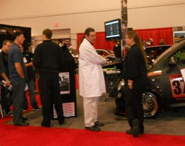 SEMA 2011 Booth Busy